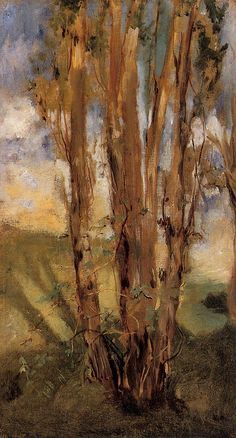 Edouard Manet (1832-1883), Study of Trees (1859), oil on canvas.  TRANSISTORADIO