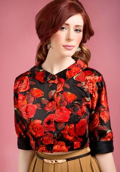 Flowery blouse-vintage
