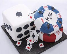 #Casino I #Dice I #Poker #cakes - cards, dice and poker chip cake ideas   #baking
