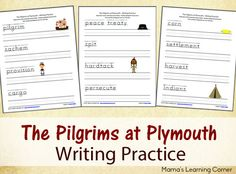 FREE Pilgrims at Plymouth Printables from Mama's Learning Corner