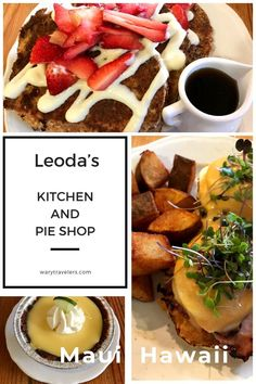 Looking breakfast, lunch or dinner? Not only does Leoda's have the best pies on Maui, but they have some of the best food. Cozumel, Cancun, Tulum, Pie Shop, Good Pie, Maui Vacation, Big Island Hawaii, Maui Hawaii, Best Breakfast