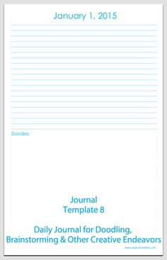 journal template free printable journal pages journal for doodling brainstorming or some other