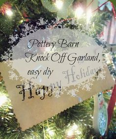#Pottery barn #knock off garland