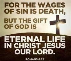 """Romans 6:23 - From Great News! Daily, """"Life's Road Signs: U-turn Permitted,"""" Monday, July 28, 2014. #signs #repent Subscribe: http://ui.constantcontact.com/d.jsp?m=1115825817296&p=oi"""