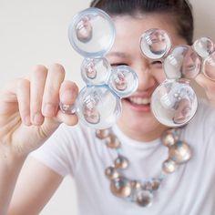 SHIH-CHING HSU-CHINA- Magnify, 2012, necklace, resin, aluminum, paint, steel, 250 x 240 x 45 mm, photo: Zita Hsu