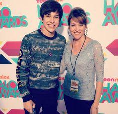 Austin and Mama Mahone at the Halo Awards!