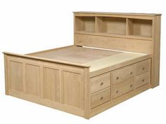 storage beds full size with drawers - Bing images Bed Frame With Drawers, Bed Frame With Storage, Diy Bed Frame, Full Size Storage Bed, Bed Storage, Bedroom Storage, Diy Furniture Plans, Bedroom Furniture, Furniture Design