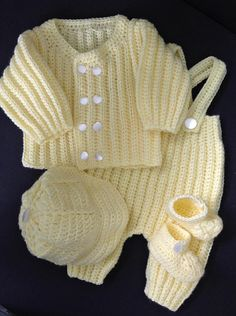 Newborn Boy Coming Home Outfit in Good-Luck Yellow