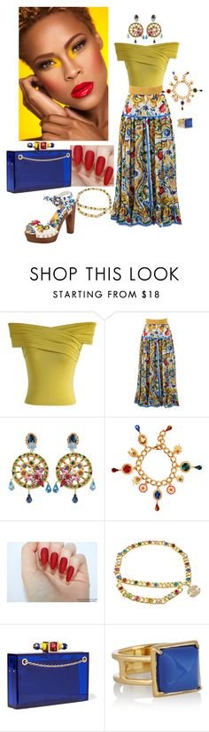 """Untitled #293"" by gorgeouslor ❤ liked on Polyvore featuring Chicwish, Dolce&Gabbana, Chanel, Charlotte Olympia and Elizabeth and James"