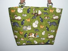 Cat Purse Quilted Green by CutePurseNalities on Etsy, $27.00