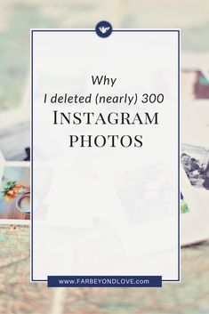 As I work to grow my Instagram following and be more active on the social network I realized I needed to clean things up. That's why I spent an entire day working on my Instagram aesthetic and deleting over 300 photos.