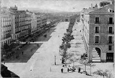 Paseo Independencia 1861 Madrid, City, Photography, Isabel Ii, Outdoor, Zaragoza, Walks, Antique Photos, Cities
