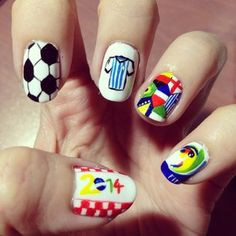The World Cup is here… | 38 Awesome Nail Art Designs Inspired By The World Cup
