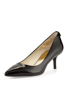 MK-Flex+Flex+Patent+Kitten-Heel+Pump,+Black+by+MICHAEL+Michael+Kors+at+Neiman+Marcus.