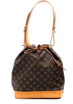 Louis Vuitton Monogram GM Noe Drawstring Authentic Shoulder Bag