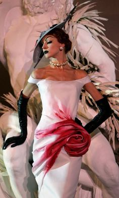 beautiful design homage to Cecil  Beaton; couturier for My Fair Lady movie  with Audrey Hepburn, c. 1965.