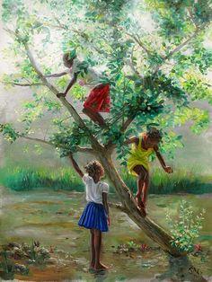 """Guava Tree 2"" | by Jonathan Gladding (Caribbean Artist) Memories..plum tree, mango tree etc"