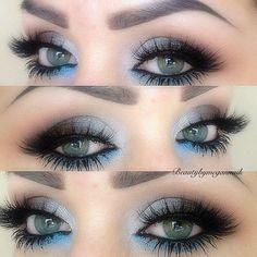 Eye Makeup Tips.Smokey Eye Makeup Tips - For a Catchy and Impressive Look Gorgeous Makeup, Pretty Makeup, Love Makeup, Makeup Tips, Makeup Looks, Makeup Tutorials, Makeup Ideas, Beauty Tutorials, Blue Eye Makeup