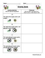 Predict And Infer Plant Worksheet Math Pinterest Science