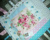 Baby Blanket - Baby Girl - Ribbon Blanket - Lovey Blanket - Security Toddler Blanket - Baby Shower Gift - Shabby Chic  Blanket