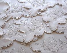 vintage french linen napkins
