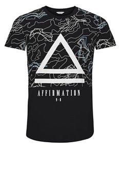 Jack & Jones T-Shirt print - black für 19,95 € (10.07.16) versandkostenfrei bei Zalando bestellen.
