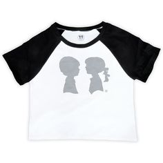 Alice Logo Raglan Crop Top (Black) Boy Meets Girl ($42) ❤ liked on Polyvore featuring tops, raglan top, raglan sleeve top, logo tops, baseball top and crop top