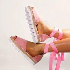 Plus Size Espadrilles Sandals Peep Toe Lace Up Summer Platform Sandals Espadrille Sandals, Espadrilles, Shoes Sandals, Maxi Shirt Dress, Maxi Dress With Sleeves, Peep Toe Platform, Peep Toe Heels, Grey Shoes, Types Of Shoes