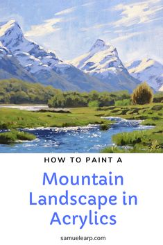 In this painting tutorial I cover the stepbystep process how I painted this mountain landscape in acrylics Mountains are one of my favourite subjects to paint and its als. Digital Painting Tutorials, Acrylic Painting Tutorials, Painting Techniques, Acrylic Painting Lessons, Acrylic Art, Painting Art, Matte Painting, Acrylic Paintings, Oil Paintings