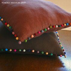 Pom-pom Linen Cushion no.6 | by Yumiko Higuchi