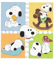 Baby Snoopy Collage Cross Stitch Pattern Sleepng Hugging Butterfly