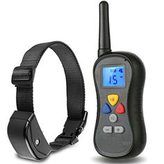 65d440c4e1e50 Rechargeable and Waterproof Remote Dog Training CollarVibrationShock and  Tone with Backlight LCD Separate Silicone Buttons for