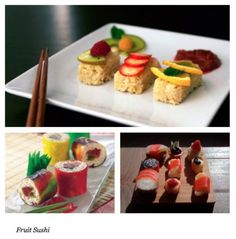 Fruit Sushi - i used to make this all the time