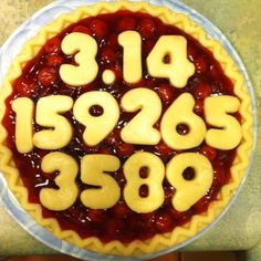 Happy Pi Day  My 11YO math guy *screamed* in my ear with excitement when he saw this, thus  I figured I'd better pin it for him.