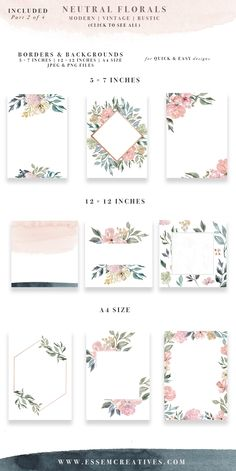 Neutral Watercolor Flowers Clipart, Watercolor Background, Rustic Vintage Geometric Floral Border Frame Clip Art, Wedding Invitation Clipart is part of Watercolor floral wedding invitations or Print - Invitation Floral, Watercolor Wedding Invitations, Rustic Invitations, Invitation Ideas, Wedding Invitation Background, Wedding Background, Event Invitations, Anniversary Invitations, Invitation Design