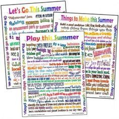 Summer Lists free printable