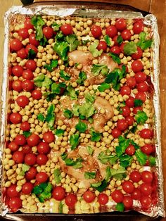 This is one of my favorite tried-and-true recipes — Roast Chicken Breasts  with Garbanzo Beans and Cherry Tomatoes. It's from the Bon Appétit Test  Kitchen, but I ran across it on Pinterest a couple of years ago in my quest  to find recipes that are different and healthy.   This is an easy chicken recipe that is delicious and filling while keeping  within your New Year's resolution to eat healthy! The garbanzo beans add a  nutty source of protein in addition to the chicken, and the tomatoes…