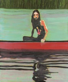 """Red Canoe"" by Peter Doig"