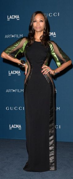 Zoe Saldana In Gucci – LACMA Art + Film Gala 2013