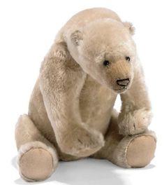Polar bear - previous pinner labeled it as a  Steiff bear - I'm not sure ...
