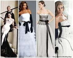 black and white bridal gowns; so dramatic