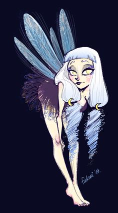 Fuki likes to draw, just wanted to draw a night fairy. inspirated a...