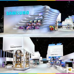 If you are looking for high tech purity, go no further than Samsung at the International Consumer Electronics show. The booth space we created for them was large but the impression left was even larger. #marketingexperience #exhibit #display