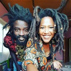 """Featuring ・・・ """"Grow your Locs Show the world that your a dreadlocs"""" 👑👑❤💛💚👑👑❤💛💚👑👑❤💛💚 Im telling you the blessings ive been getting since I desided to move here is just out of this world. Everything ive prayed for is being manifested back Dreadlock Hairstyles, African Hairstyles, Braided Hairstyles, Black Hairstyles, Hairstyles Pictures, Wedding Hairstyles, Turban, Free Form Locs, Black Love Couples"""
