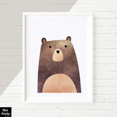 SALE PDF Woodland Nursery, Bear Print, Bear Art, woodland bear, Printable Art, Animal Print, Animal Art Print, watercolor bear,woodland Art   This is a DIGITAL wall art download item, NO PHYSICAL item, and your purchase does not include a frame or mat.   ------------------------- ♥ YOU WILL RECEIVE: -----------------------------------------------  WOODLAND NURSERY PRINT - 1x high resolution (300 dpi) JPG file - size 8x10 inches - 1x high resolution (300 dpi) JPG file - size 11x14 inches - 1x…
