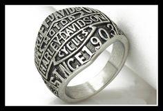 Stainless Steel Harley Davidson Ring