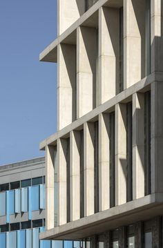 University of Brighton by Proctor & Matthews Architects Concrete Architecture, Building Facade, Brighton, Coastal, University, Architects, Facades, Design, Education