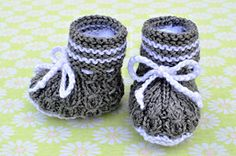 Ravelry: Mock Cables Boot Style Baby Booties pattern by Christy Hills