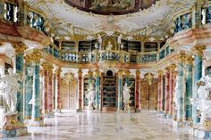 Wiblingen Monastery Library--Real life version of Disney Beauty and the Beast