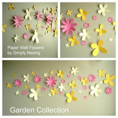 Paper Wall Flowers... Set of 36...Flower Garden by SimplyNesting, $34.00